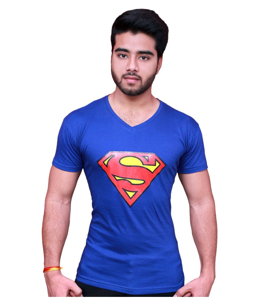 Blu Blue V-Neck T-Shirt