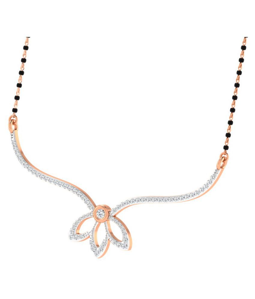 His & Her 18K Rose Gold Diamond Mangalsutra