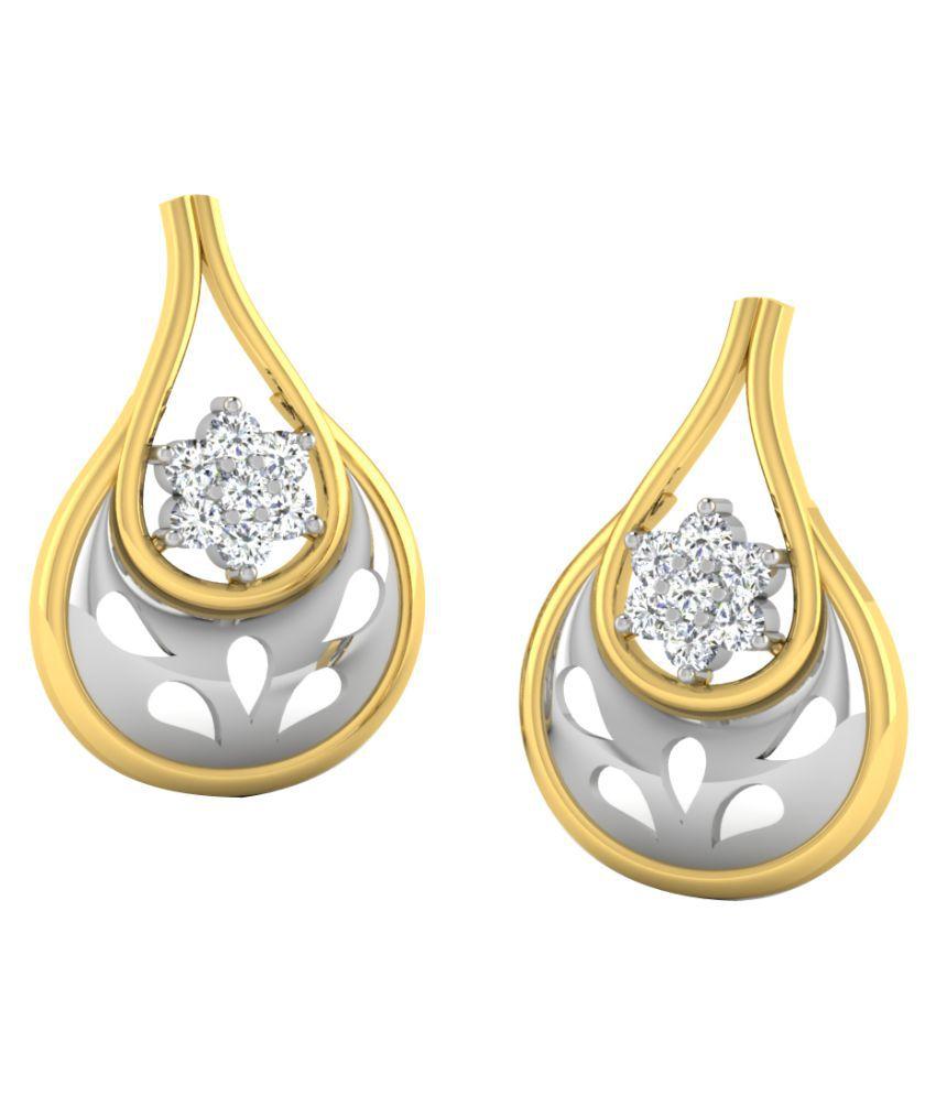 His & Her 18K Yellow Gold Diamond Drop Earrings
