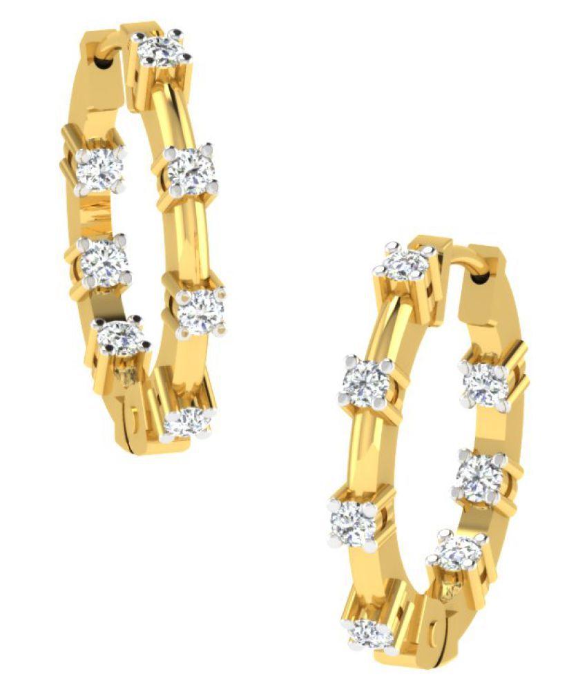 His & Her 9K Yellow Gold Diamond Hoop