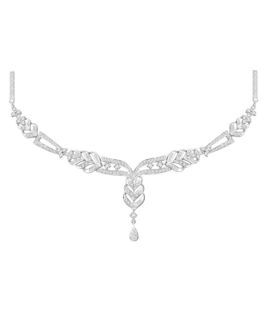 Sparkles 18K White Gold Necklace