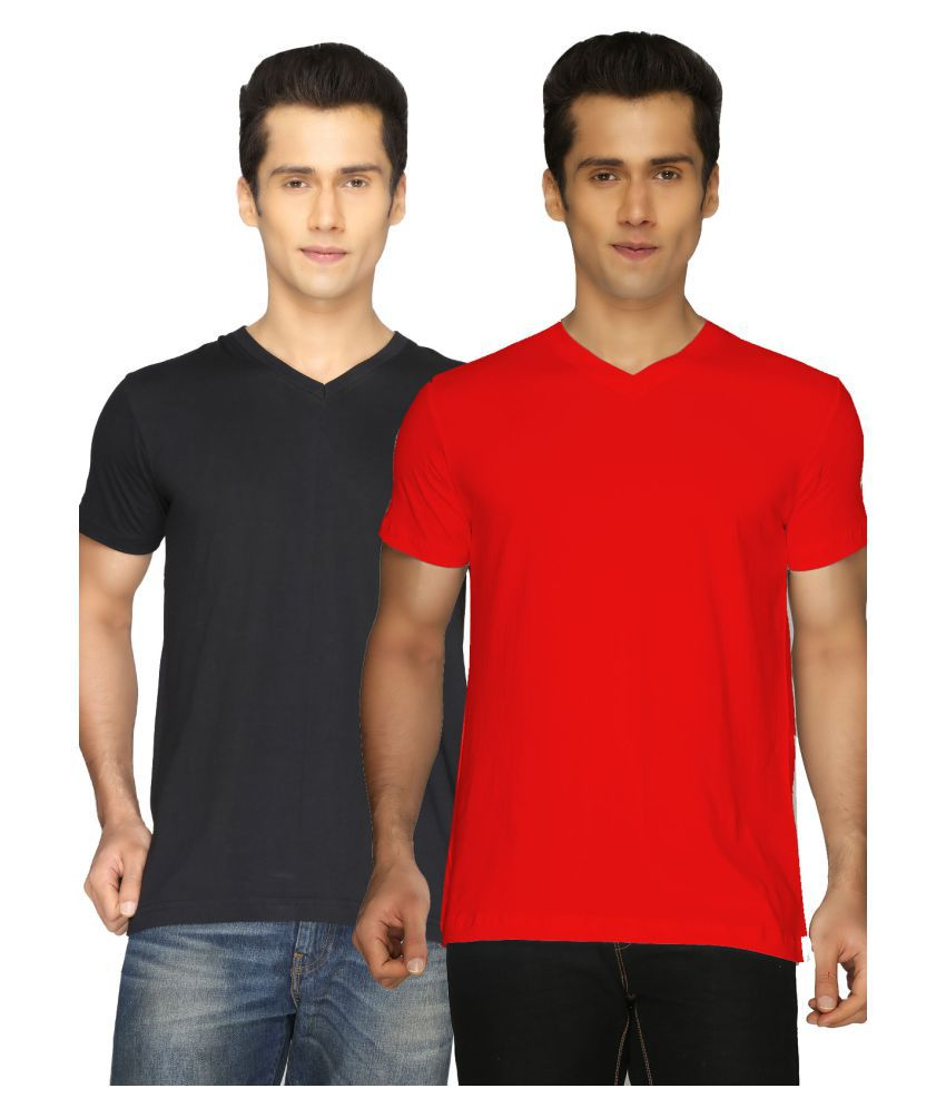 Joke Tees Multi V-Neck T-Shirt Pack of 2