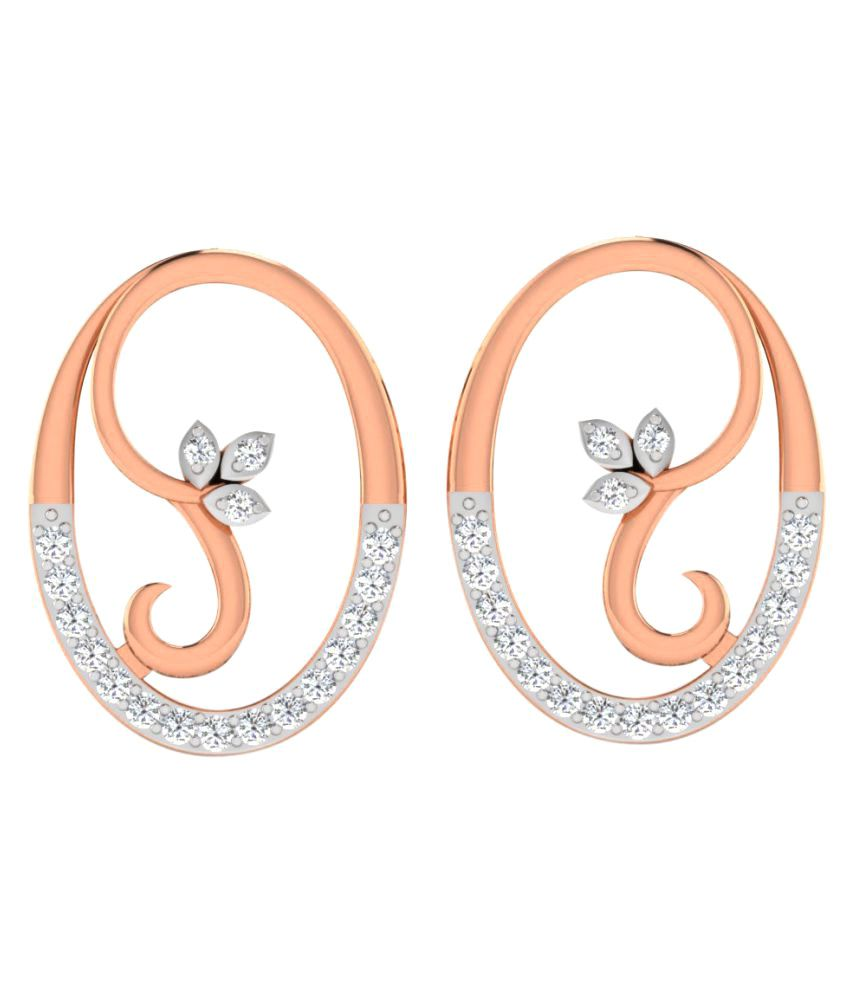 Sparkles 9K Rose Gold Diamond Studs
