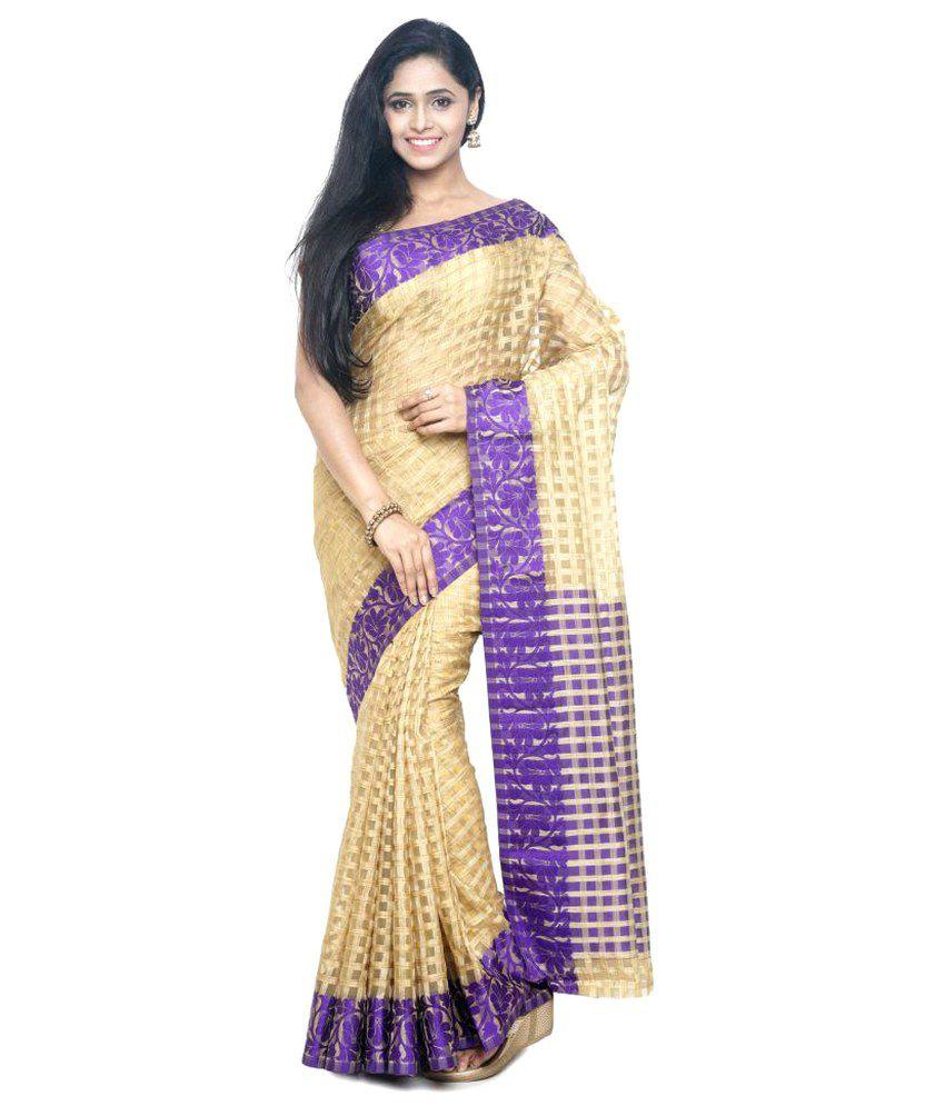 Sudarshan Silks Gold Raw Silk Saree
