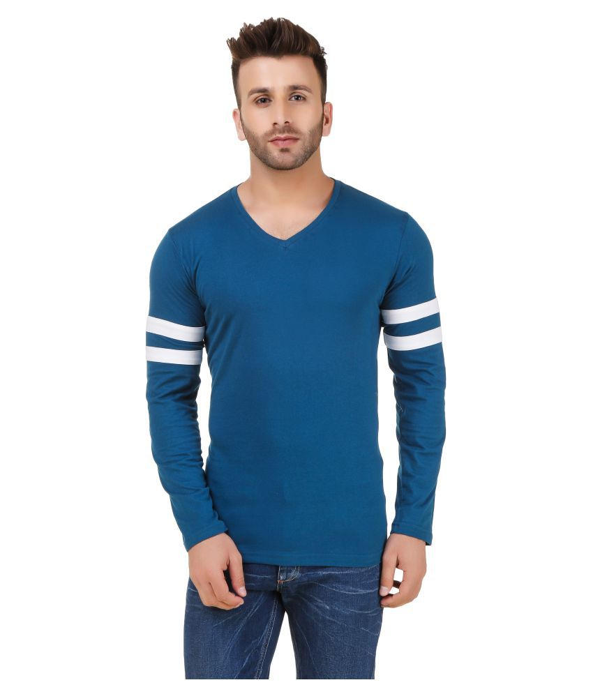 Fabstone Collection Turquoise V-Neck T-Shirt