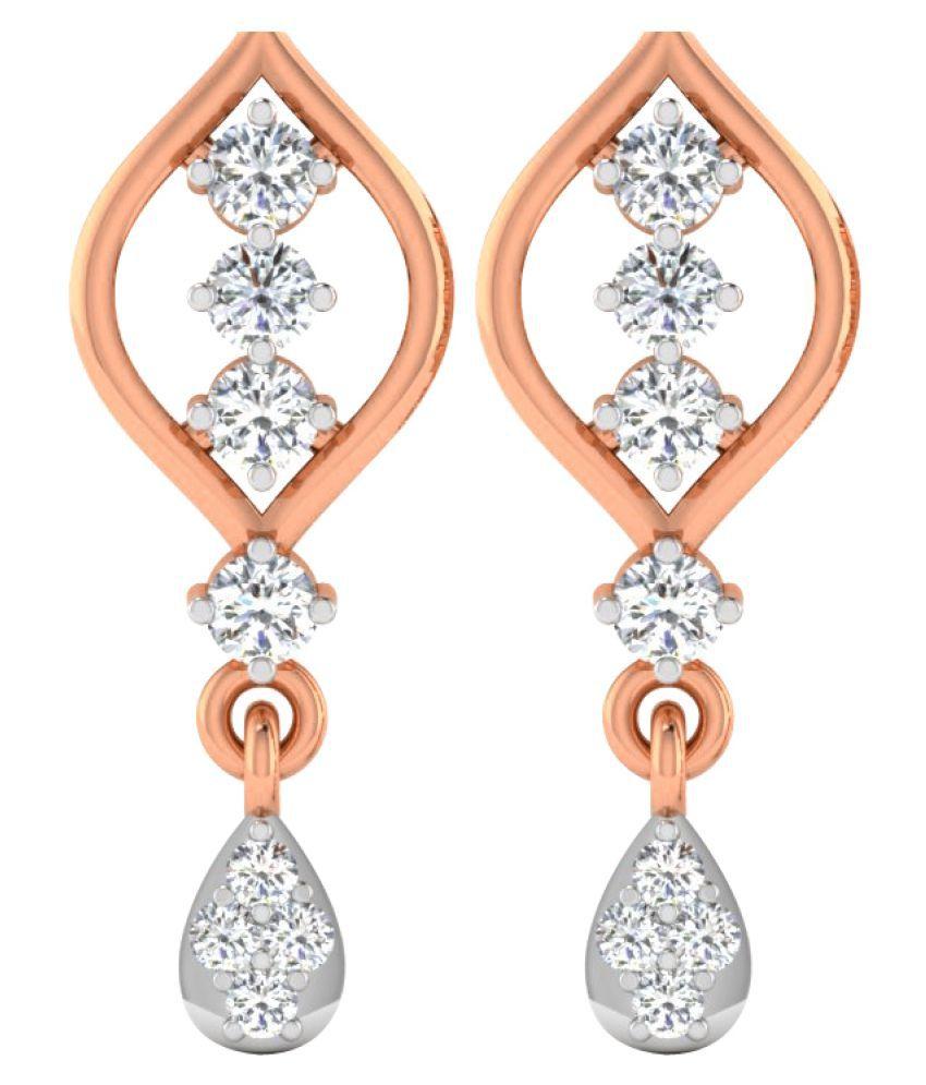 His & Her 9K Rose Gold Diamond Drop Earrings