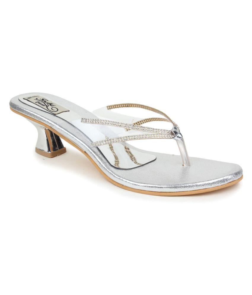 Sindhi Footwear Silver Stiletto Heels