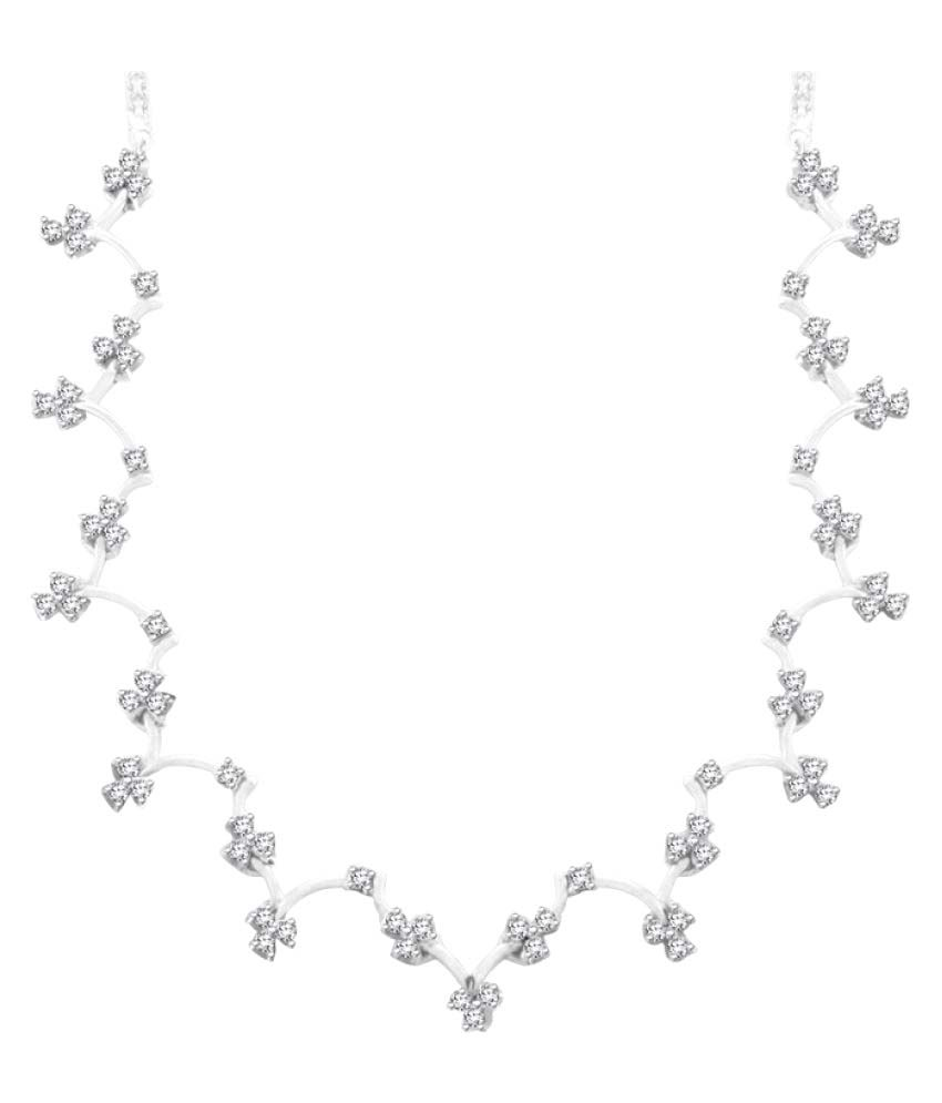 Sparkles 9K White Gold Necklace