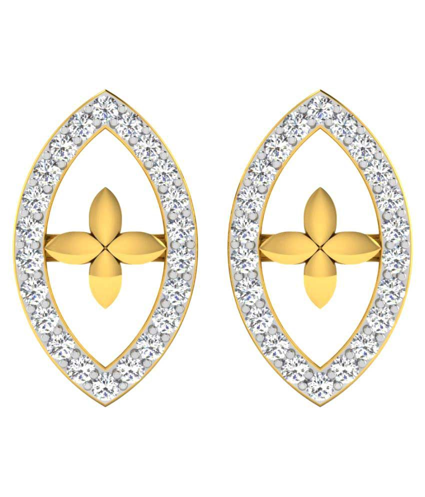 Sparkles 9K Yellow Gold Diamond Studs
