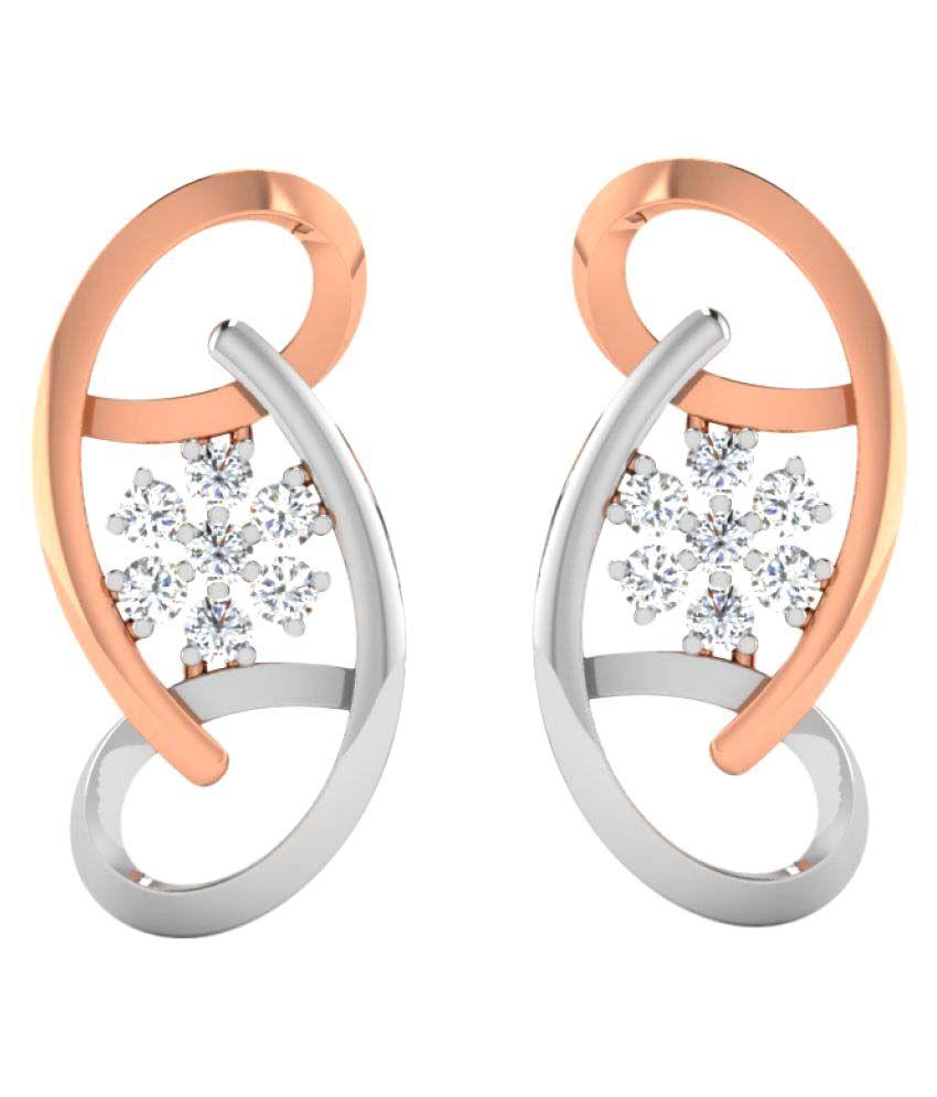 His & Her 18K Rose Gold Diamond Drop Earrings