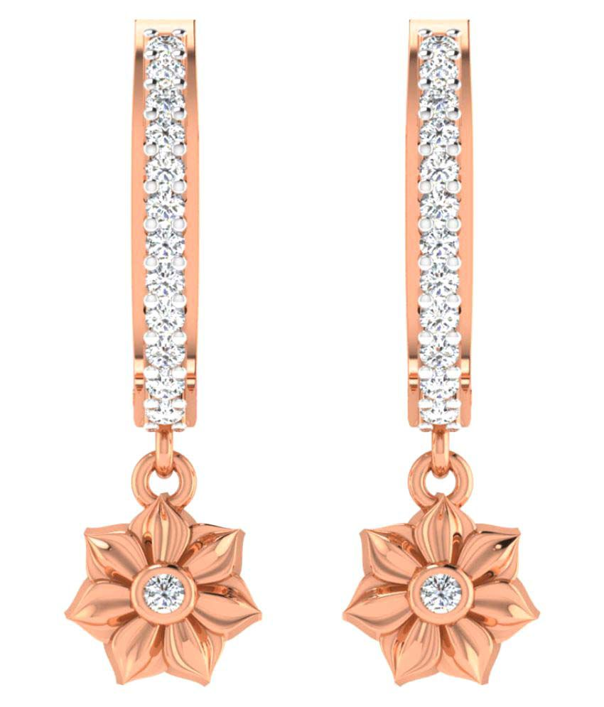 His & Her 9K Rose Gold Diamond Drop Earrings