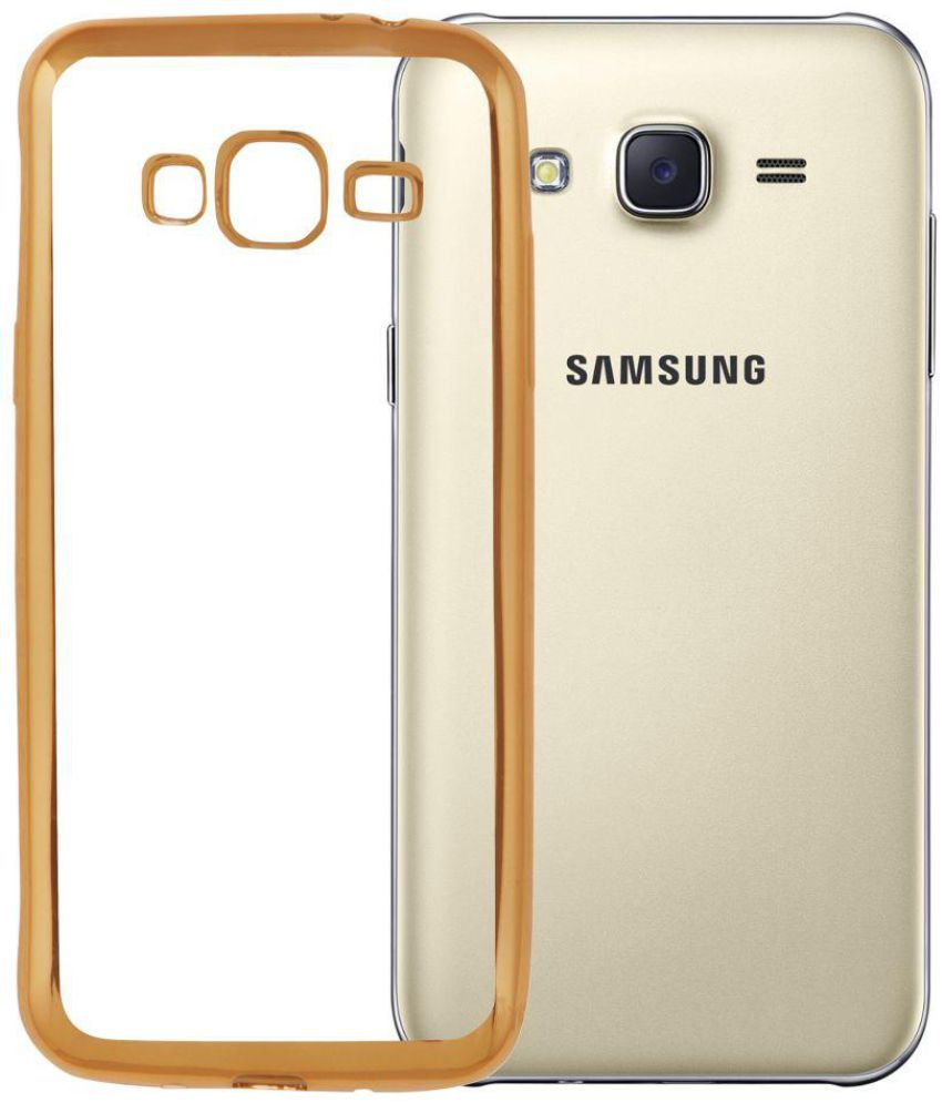 Samsung Galaxy J3 2016 Cover By Jabox Golden Plain Back Covers