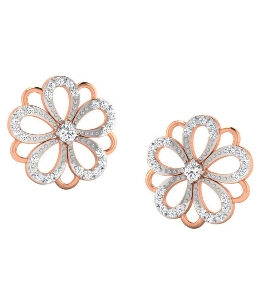 His & Her 18K Rose Gold Diamond Studs