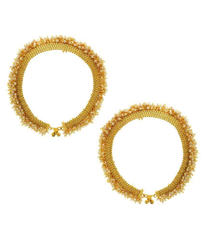 Anuradha Art Golden Anklet