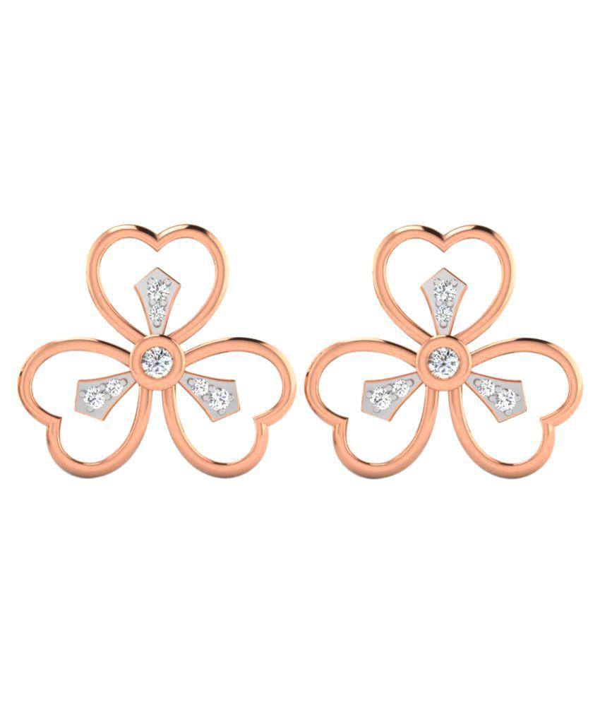 His & Her 18K Rose Gold Diamond Studs