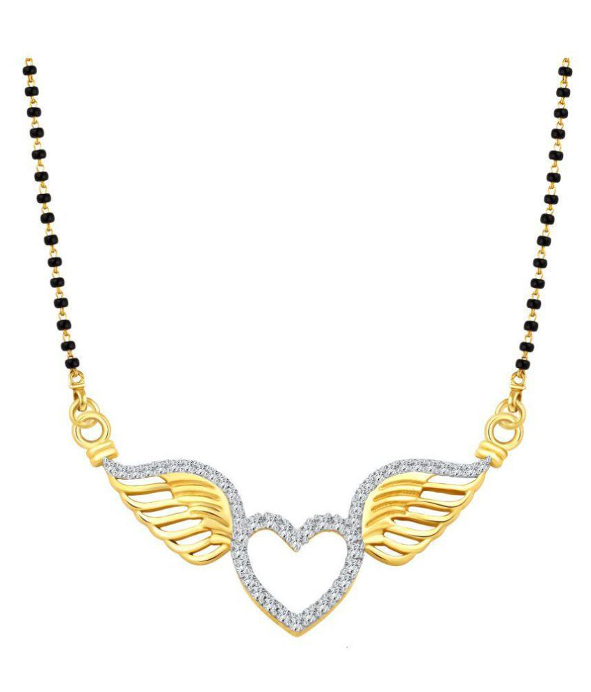 Vighnaharta Flying Love Gold and Rhodium Plated Mangalsutra