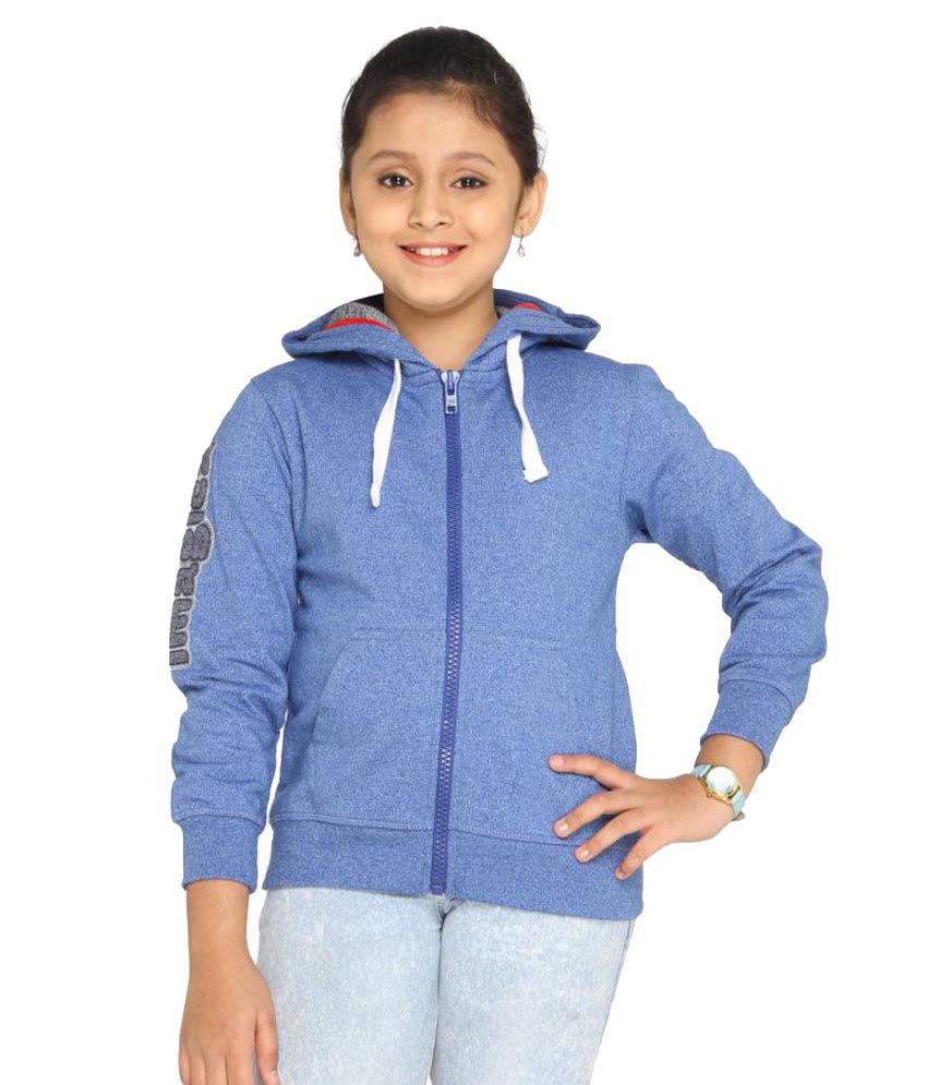 Imagica Blue Girl's Full Sleeve Hoodie