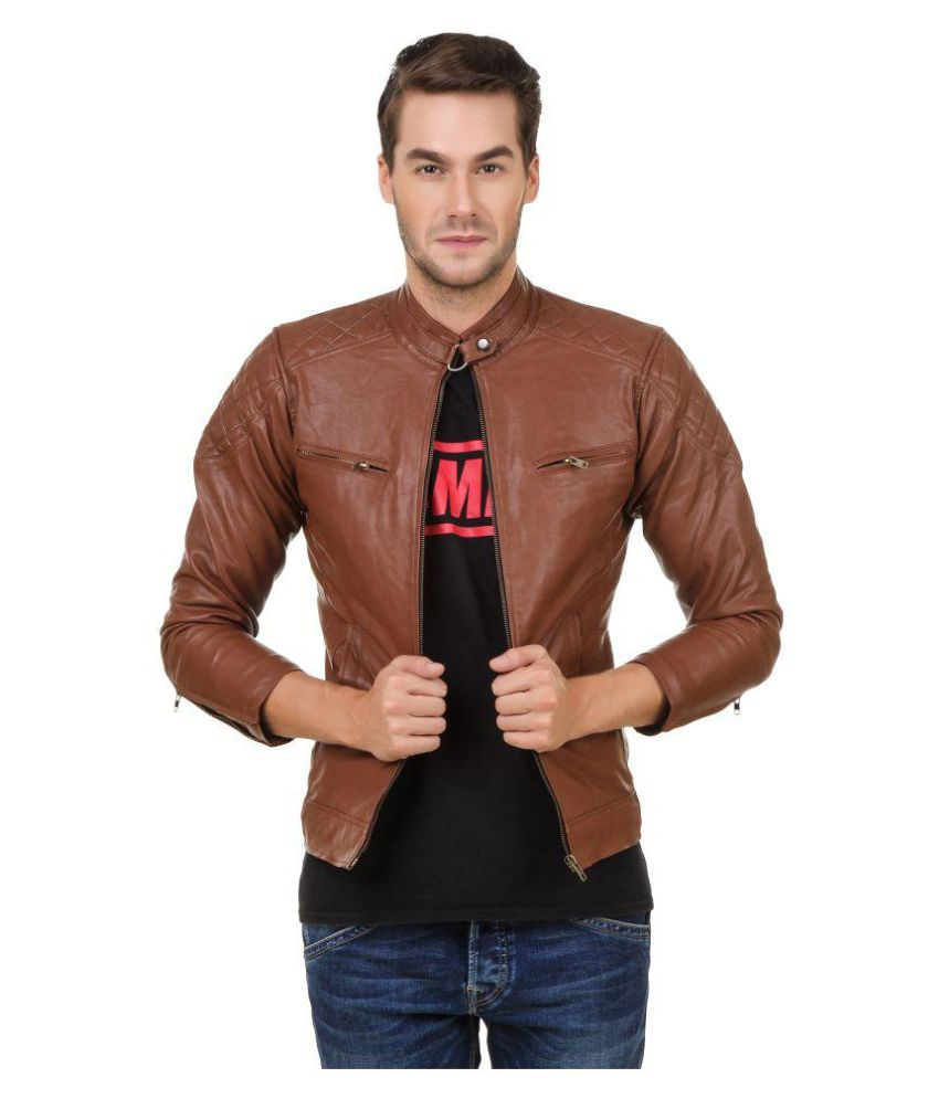 5d1fa809e95 Gatasmay Brown Quilted Bomber Jacket available at SnapDeal for Rs.1992