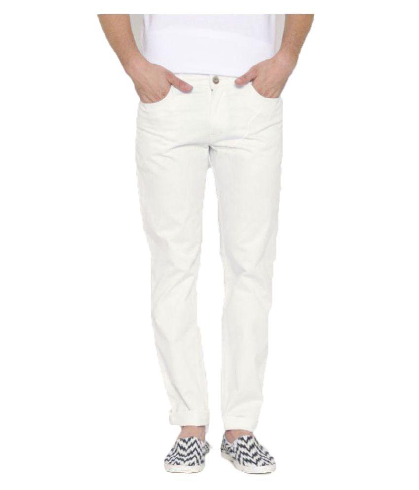 Hubberholme White Regular Fit Washed
