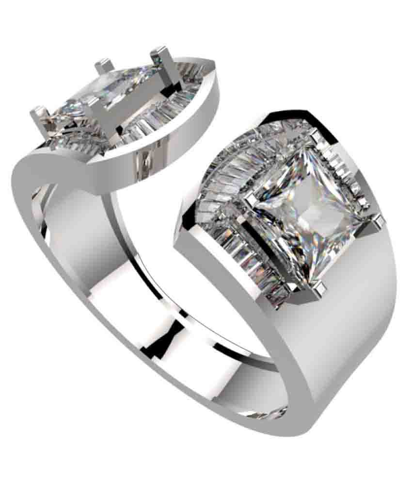Silver Taper Jewels 92.5 Silver Diamond Ring