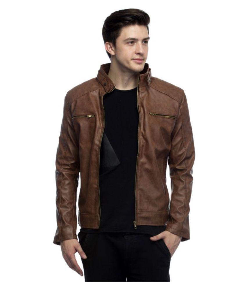 GoldCartz Brown Leather Jacket - Buy GoldCartz Brown Leather ...