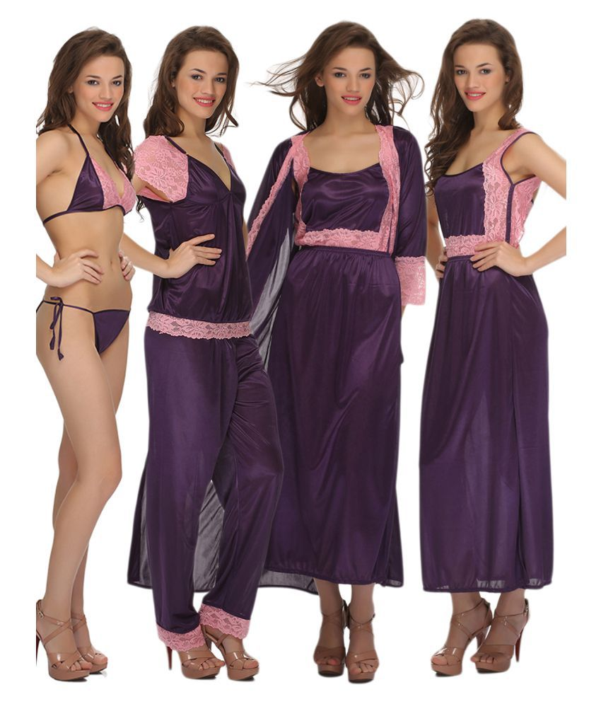 ad8161920e Buy Clovia Satin Nighty & Night Gowns Online at Best Prices in India -  Snapdeal