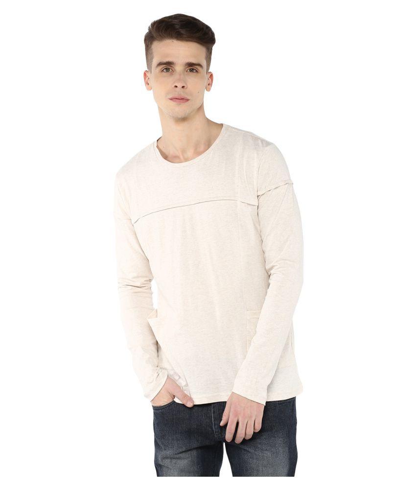 Atorse Off-White Round T-Shirt