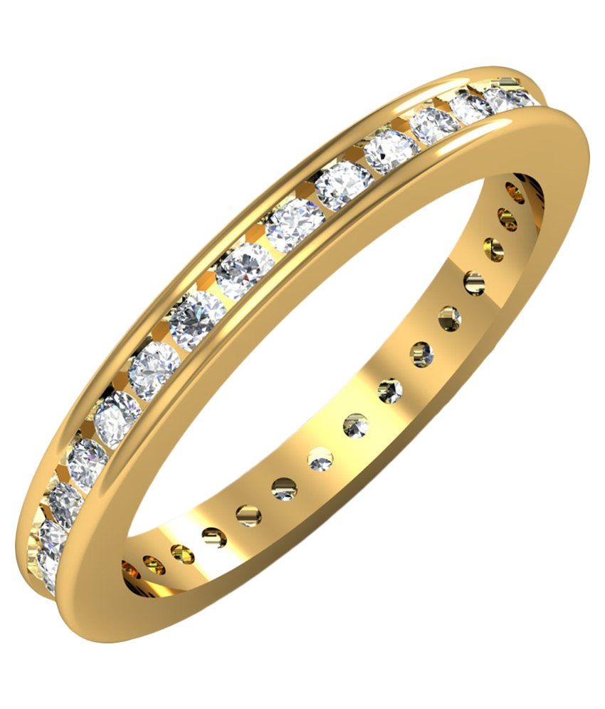 Jewelmantra 18k Gold Couple Bands