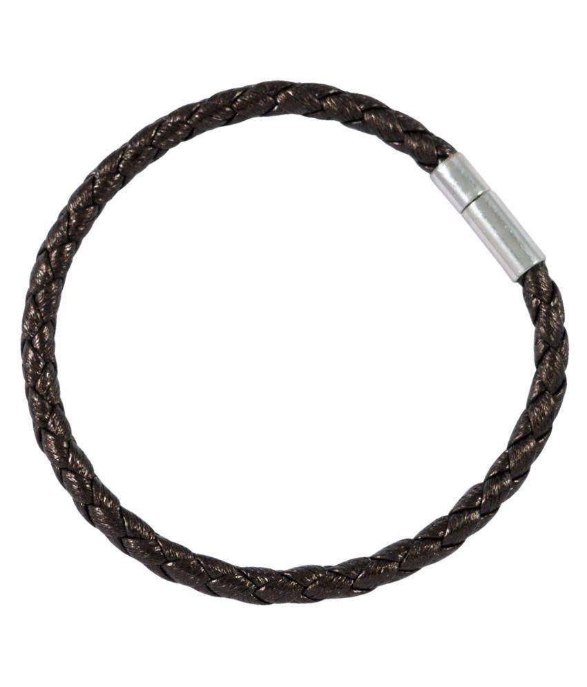 Sarah Brown Faux Leather Bracelets
