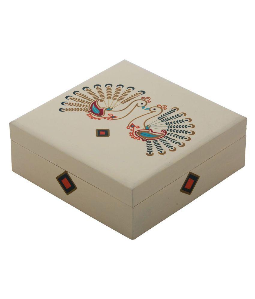 The Crazy Me Beige Wooden Jewellery Box