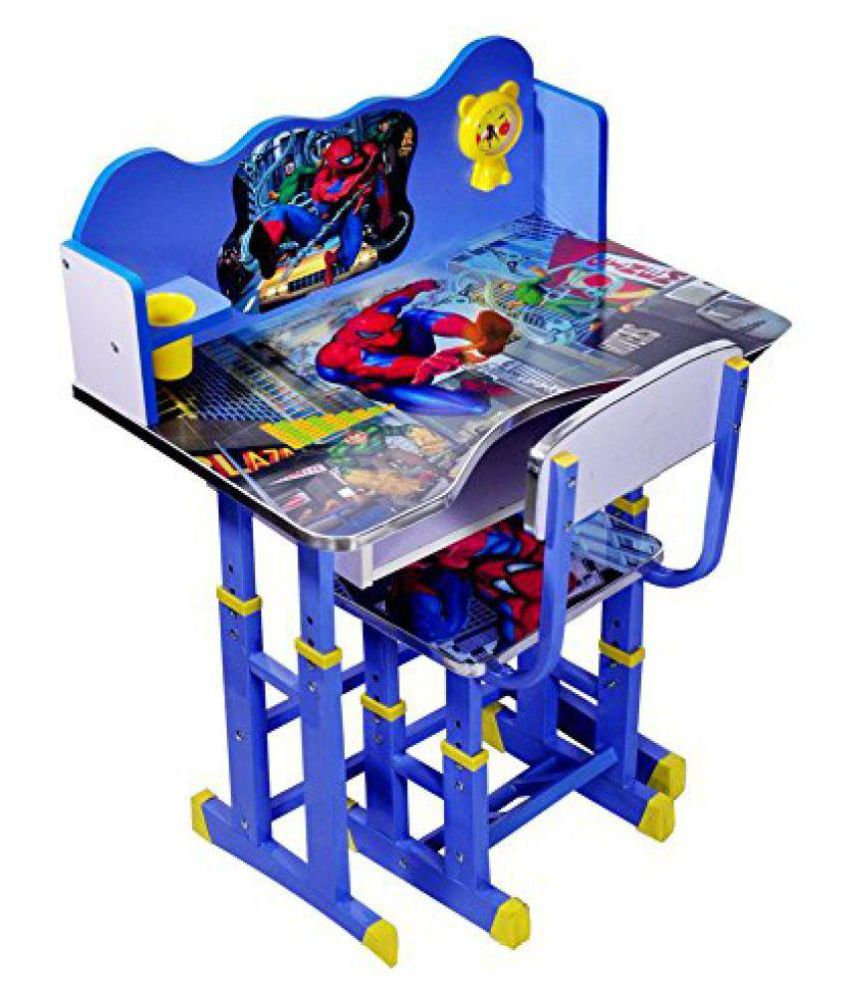 Spiderman Kids Table And Chair Set Computer For Study
