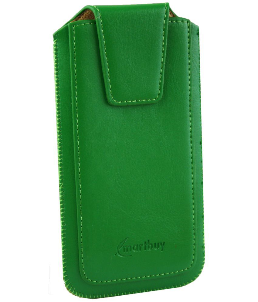 Lava A76 4G Flip Cover by Emartbuy - Green