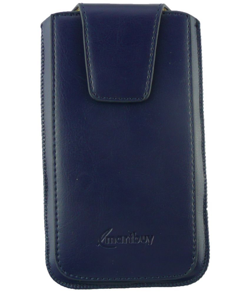 Micromax Bolt Q381 Flip Cover by Emartbuy - Blue