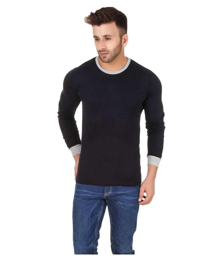 Fabstone Collection Navy Round T-Shirt