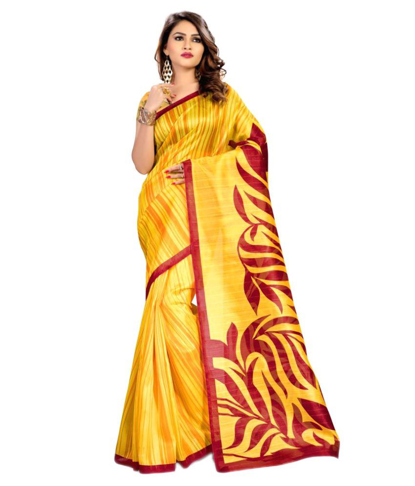 AJS Multicoloured Art Silk Saree
