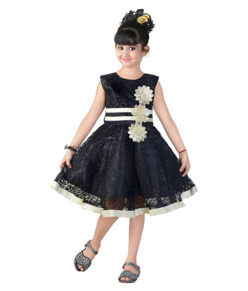 Ftcbazar Black Net Frock For Girls