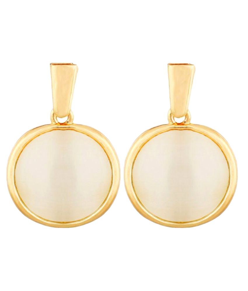 Jewels Royale Golden Alloy Drop Earrings