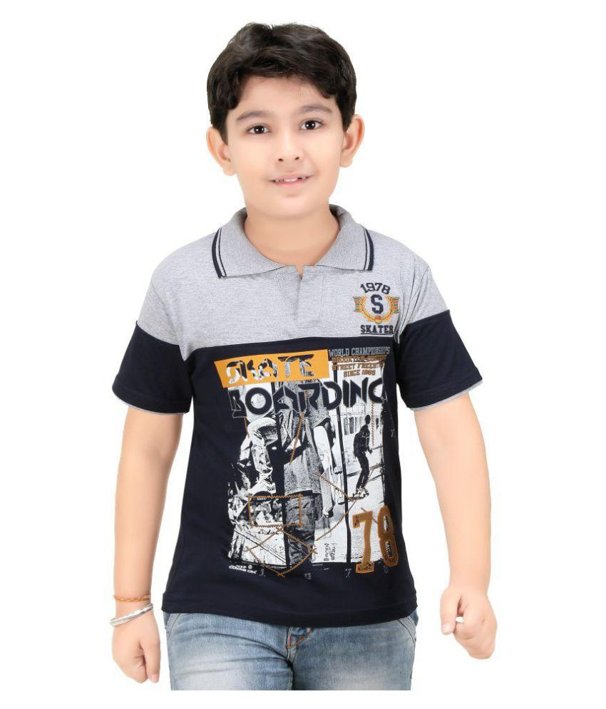 Colour kids boys printed polo t shirts available at for Boys printed t shirts