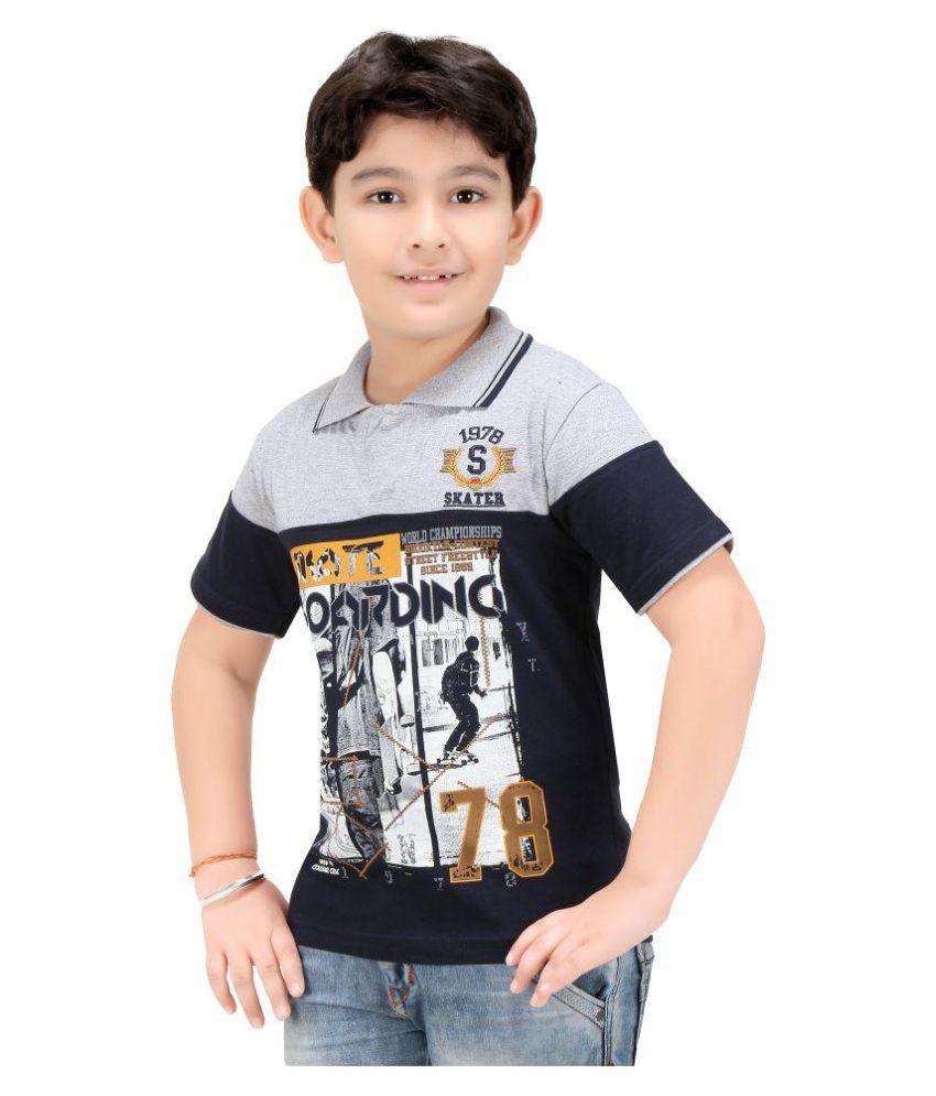 Colour Kids Boys Printed Polo T Shirts Buy Colour Kids Boys
