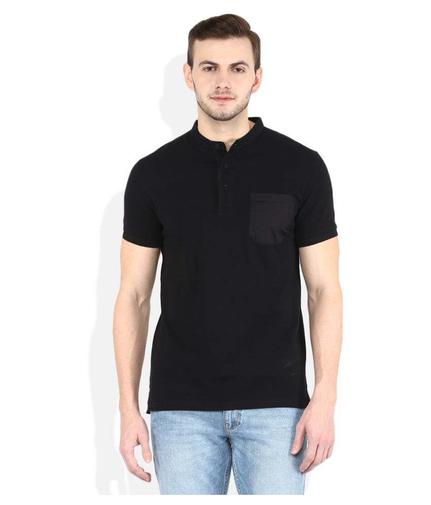United Colors of Benetton Black High Neck T-Shirt