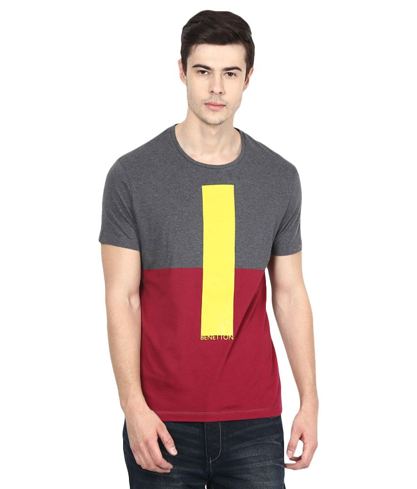 United Colors of Benetton Multi Round T-Shirt