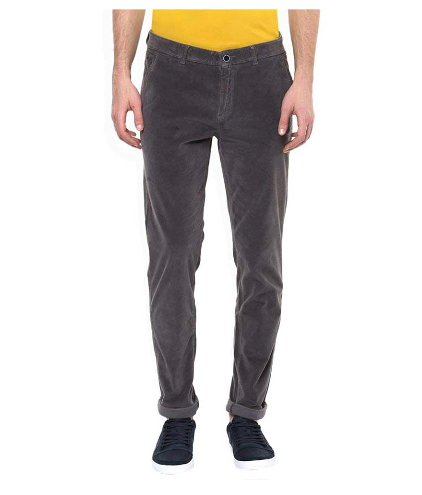 United Colors of Benetton Grey Regular Pleated Trouser
