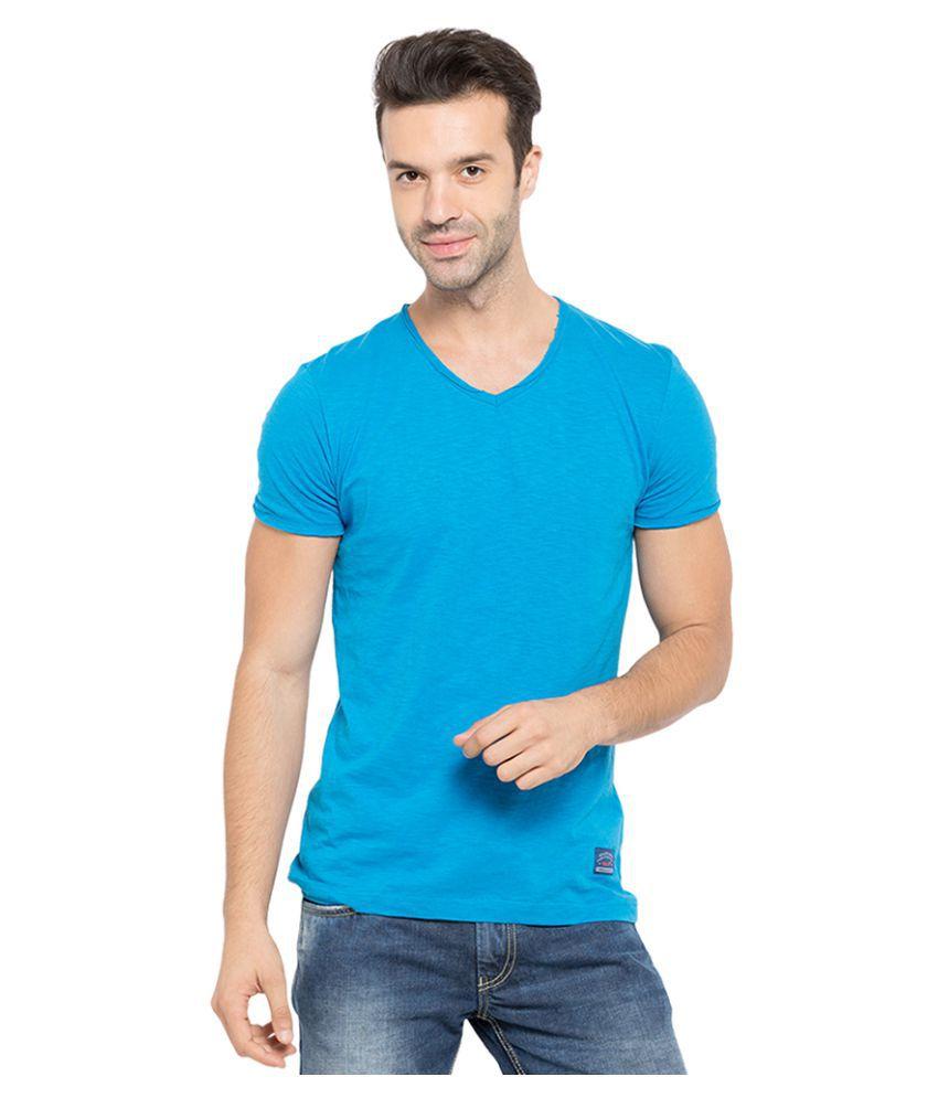 Status Quo Blue V-Neck T-Shirt