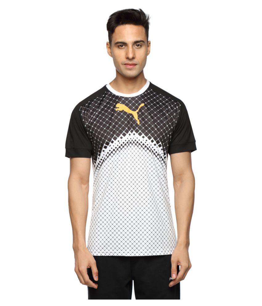 Puma White Polyester T-Shirt Single Pack