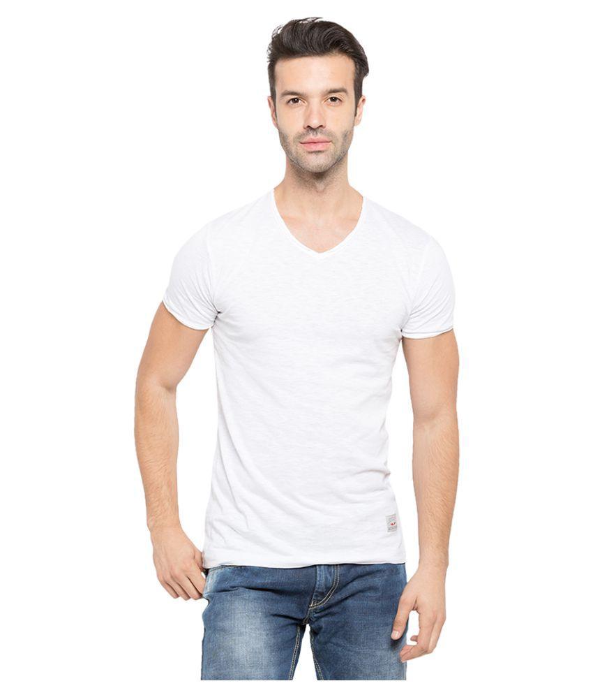 Status Quo White V-Neck T-Shirt