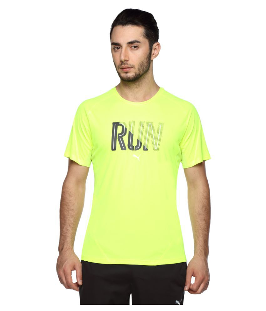 Puma yellow Polyester T-Shirt Single Pack