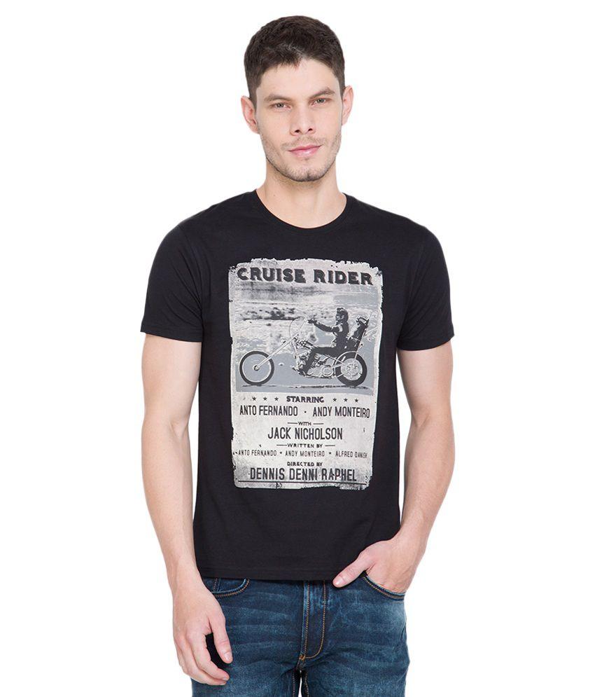 Locomotive Black Round T-Shirt