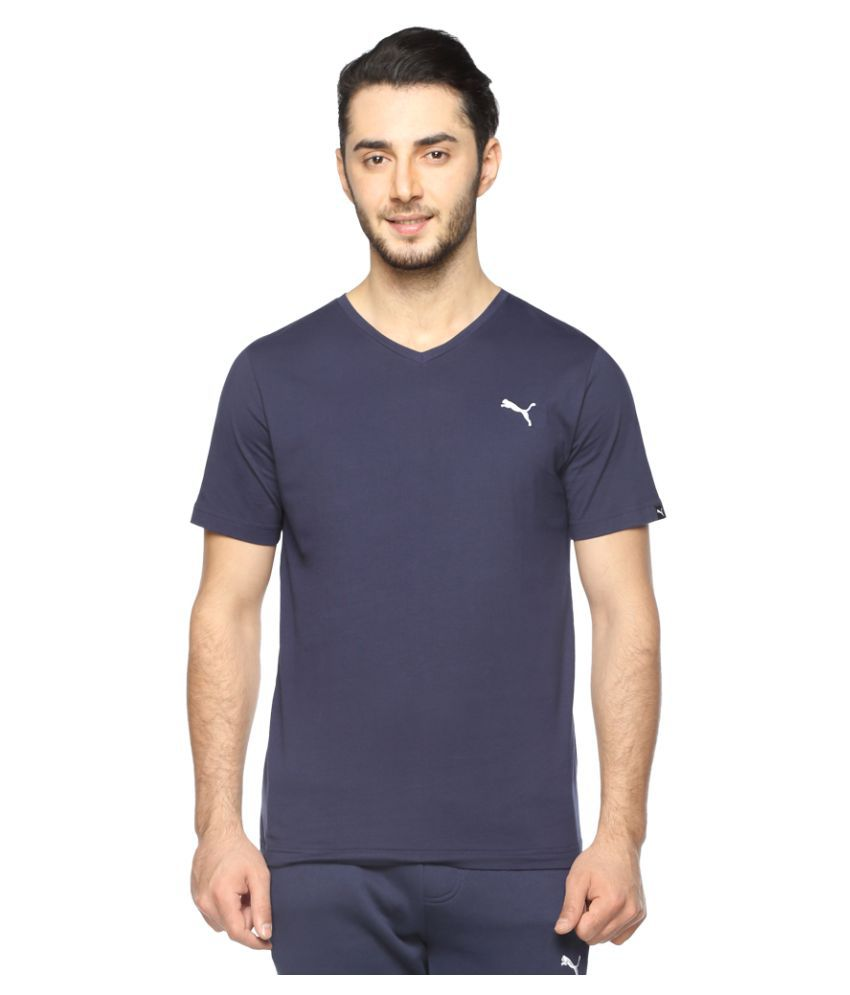 Puma Blue Cotton T-Shirt Single Pack