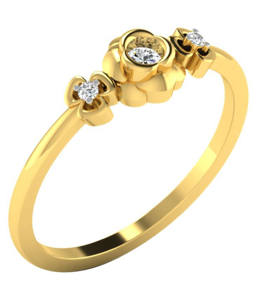 Sparkles 18K Yellow Gold Diamond Ring