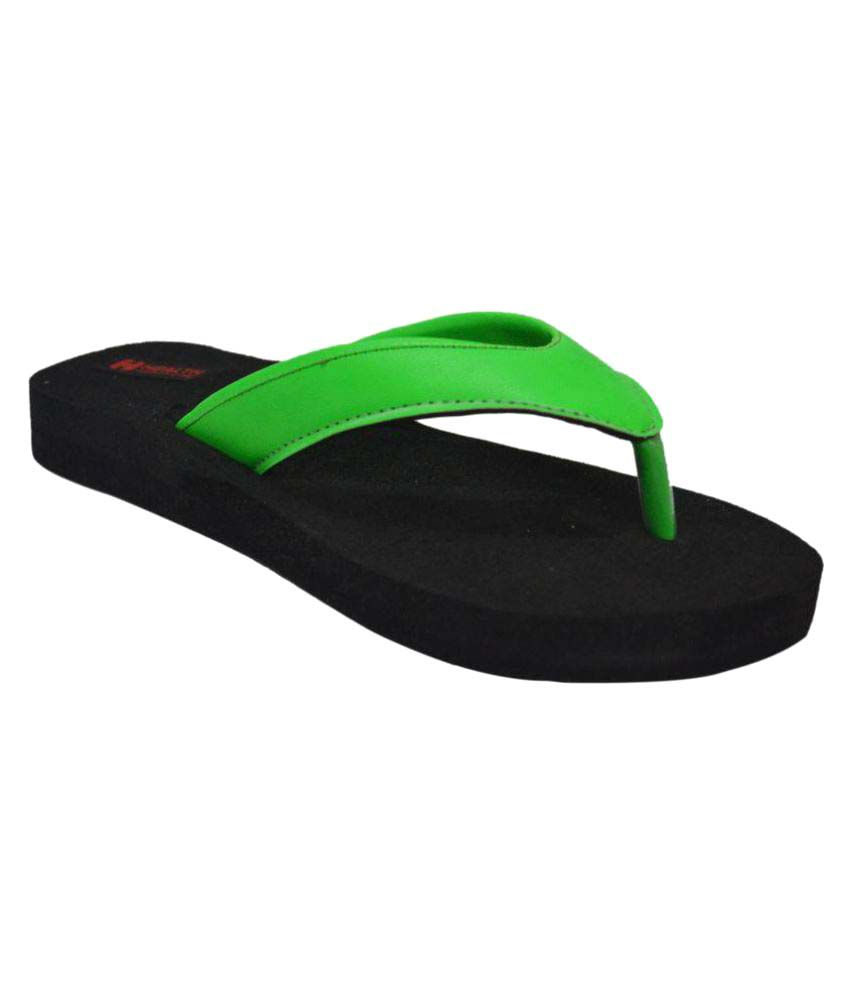 Health Line Green Slippers